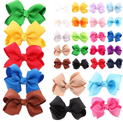 20PCS Kids Baby Girls Boutique Hair Bow Clips Hairpins Hair Accessorie Headwear Baby Girl