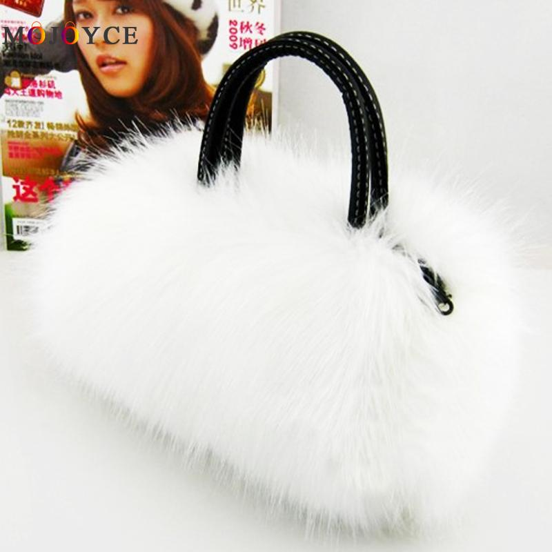 25x17x4cm Mini Size Lady Girl Pretty Cute Faux Fur Handbag Women Messenger Bag Ladies Clutch Tote
