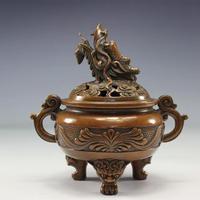 Курильница чистой меди винтажный ежедневник тарелка из сандалового дерева будды древних плеер украшения дома Китайский курильница