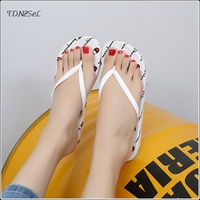 Summer Adult Lovers Men Women Flip flops Fashion Black White Soft Bottom Non slip Slides Beach Shoes Girl Boy Casual Slippers