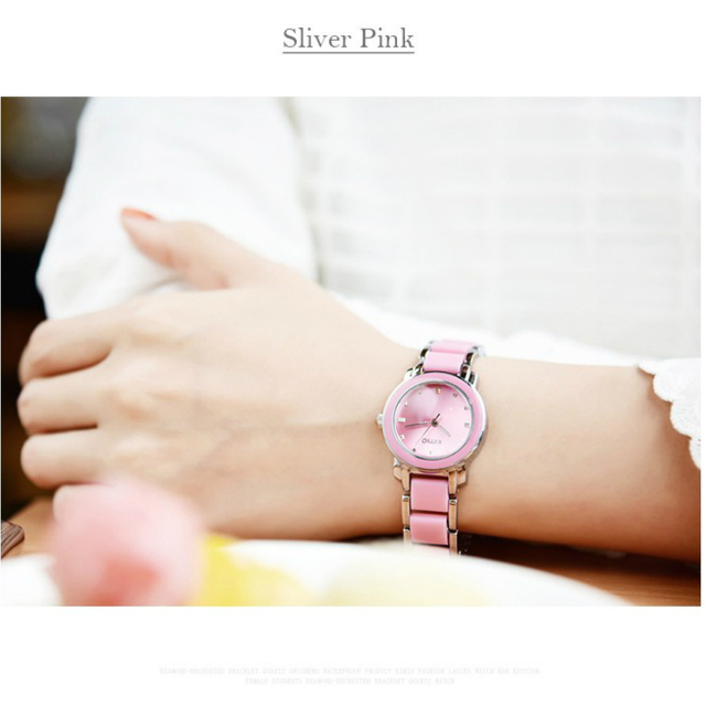 Kimio 2019 Brand Ladies Imitation Ceramic Watch Luxury Gold Bracelet Watches with Fine Alloy Strap Women Dress Watch Gift Box