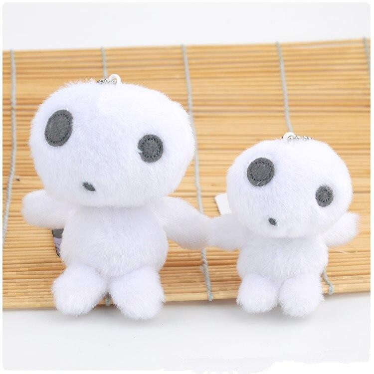 2size Choice Japan Anime Princess Mononoke Kodama Tree Spirit Plush Toy Soft Stuffed Keychain Backpack Pendants Kawaii Figure