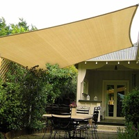 3x4meter / 3x3meter HDPE Sun Shade Sail Cloth Sun Shelter Sunshade Protection Outdoor Canopy Garden Patio Shade Sail Awning