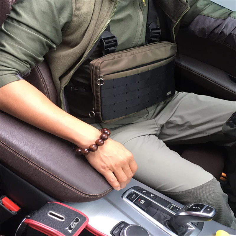 Hommes veste tactique sacs à bandoulière Chest Rig Sac hip hop Réglable Poches Gilet Kanye West Streetwear Fonctionnels sacs de Taille