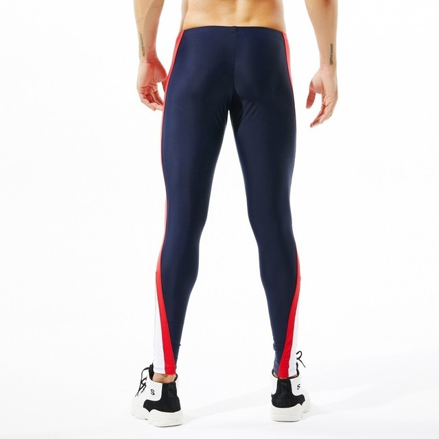 Sexy Mens Leggings Men Training Workout Leggins Running Tights Quick Dry Eslastic Male Gym Sport Compression Pants Sportswear Running Tights