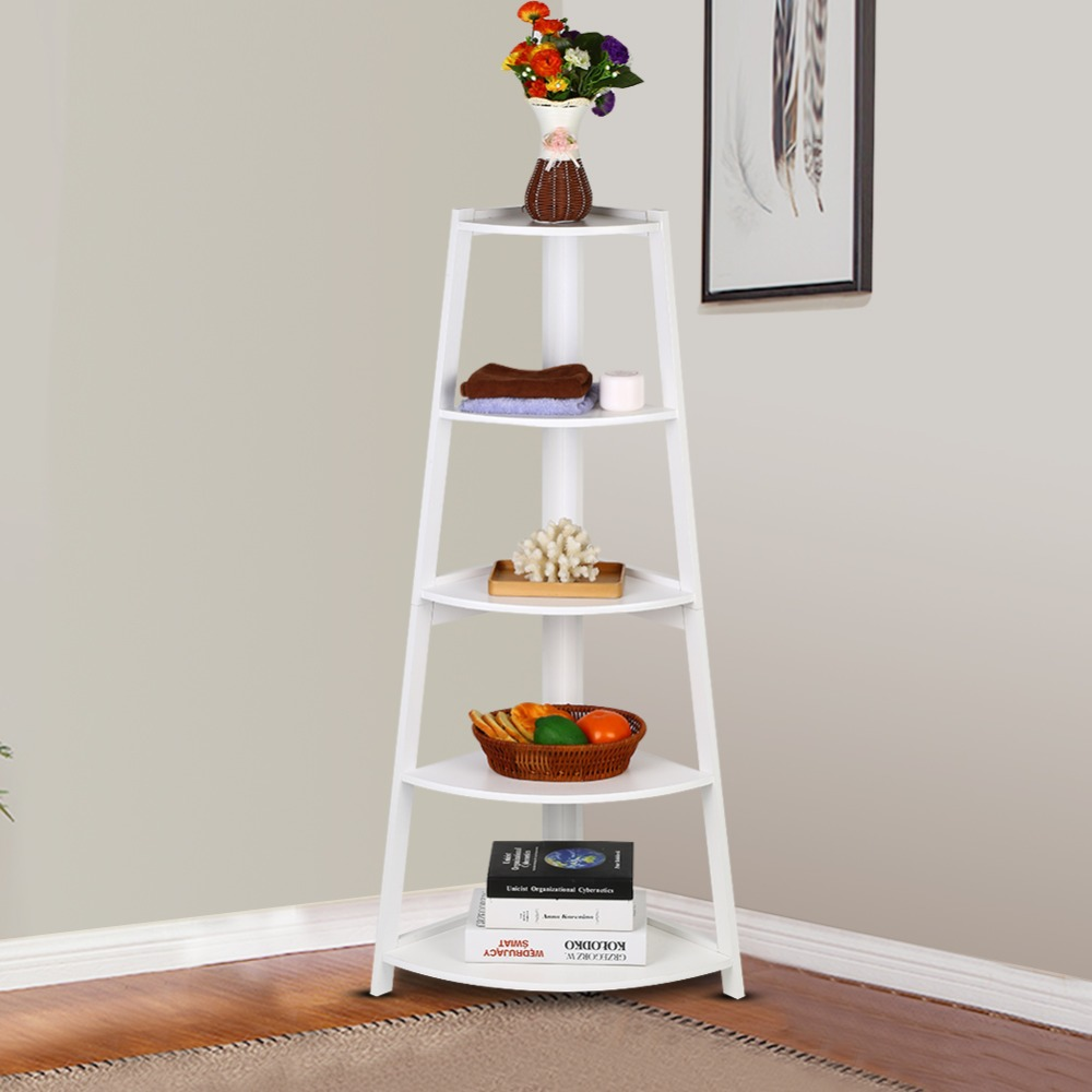 Discounted White or Black 4 Tier Wood Ladder Bookcase Readymade Collection only