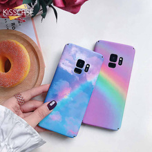 KISSCASE Rainbow Pattern Phone Case For Samsung S9 S8 Plus Hard Plastic Cover For Samsung Galaxy Note 9 8 S7 S7 Edge Girl Case kinston rhombus pattern protective plastic hard back case for samsung galaxy note 2 n7100 white