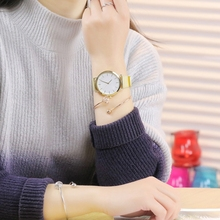 Luxury Womens Watch Gold Sliver Casual Clock Stainless Steel Band Quartz Round Dail Gifts For Ladies Wrist 2019 New
