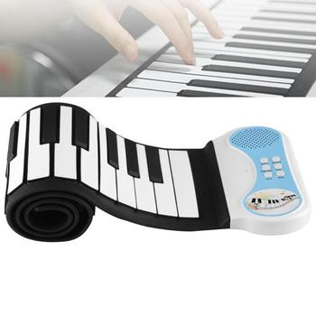 Portable 49 Keys Flexible Silicone Roll Up Piano Folding Electronic Keyboard for Children Student PN49 Musical Instruments