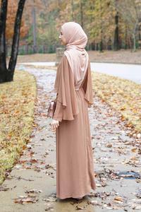 Image 3 - Arabischen Vestidos 2019 Lange UAE Abaya Dubai Kaftan Kimono Leinen Maxi Muslimischen Schal Bodycon Hijab Kleid Frauen Türkisch Islamische Kleidung