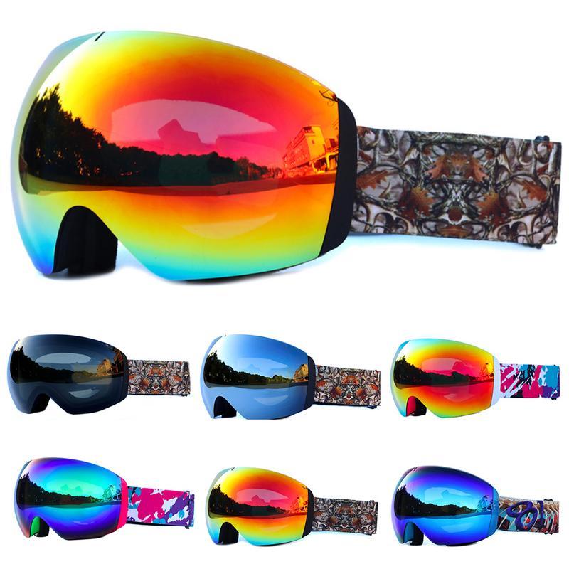 Devoto Occhiali Da Sci Doppio Strato Anti-fog Grande Maschera Da Sci Occhiali Da Sci Occhiali Donne Degli Uomini Della Neve Snowboard Occhiali Da Sci Sci Occhiali Colorati Fresco Della Fascia