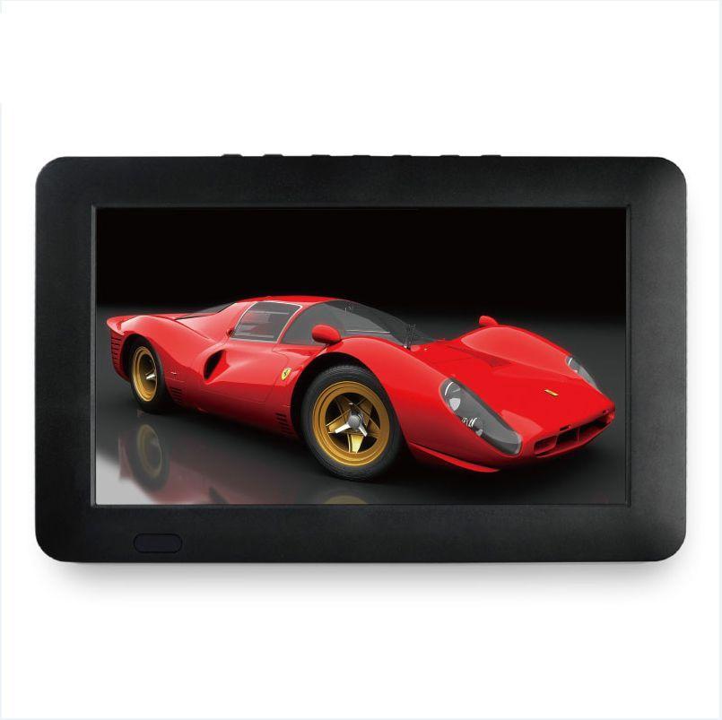 Portable 9 pouces 16:9 1080P TFT Led HD PVR DVBT2 DVBT ISDB numérique prise en charge de la télévision analogique lecteur de carte USB TF