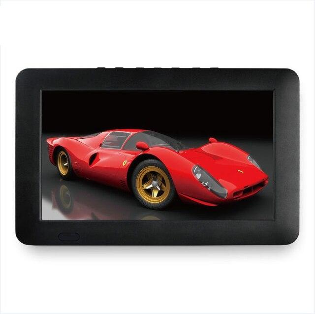 Taşınabilir 9 inç 16:9 1080P TFT Led HD PVR DVBT2 DVBT ISDB dijital Analog TV desteği USB TF kart okuyucu