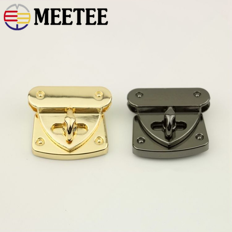 2pcs 31x37mm Handbag Metal Locks Buckle Fashion Twist Turn Lock Snaps Diy Replacement Bags Purse Clasp Closure Accessories Bf120 Easy And Simple To Handle Buckles & Hooks Arts,crafts & Sewing