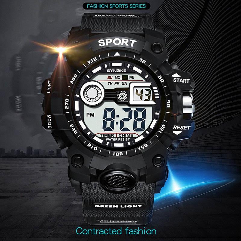 S Shock Electronic Watch Zegarki Meskie Running Watch LED Digital Watch Men Sports Waterproof New Rubber Rubber Strap Watch Xfcs