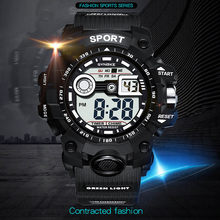 S Shock Electronic Watch Zegarki Meskie Running Watch LED Digital Watch Men Sports Waterproof New Rubber Rubber Strap Watch Xfcs(China)