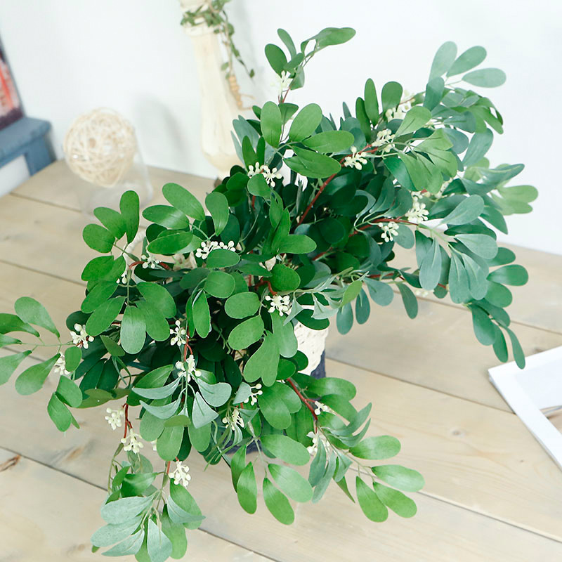 Lan Yun Artificial Flowers 9 Fork Jujube Leaf to Beam Simulation Plant Plants Artificial Flowers Wedding Home Decoration Pot Flo in Artificial Plants from Home Garden