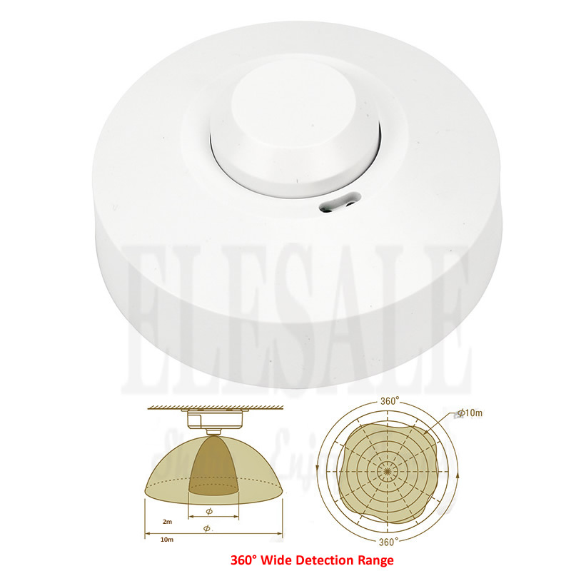 High Quality 5.8GHz 360Degree 220V/AC-240V/AC Microwave Sensor Switch For Light Control Microwave Induction Home Light Switch