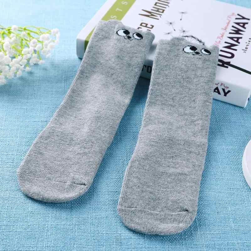 Baby Socken Kinder Junge Mädchen Kniehohe Baumwolle Cartoon Non Slip Warme Beinlinge Socken