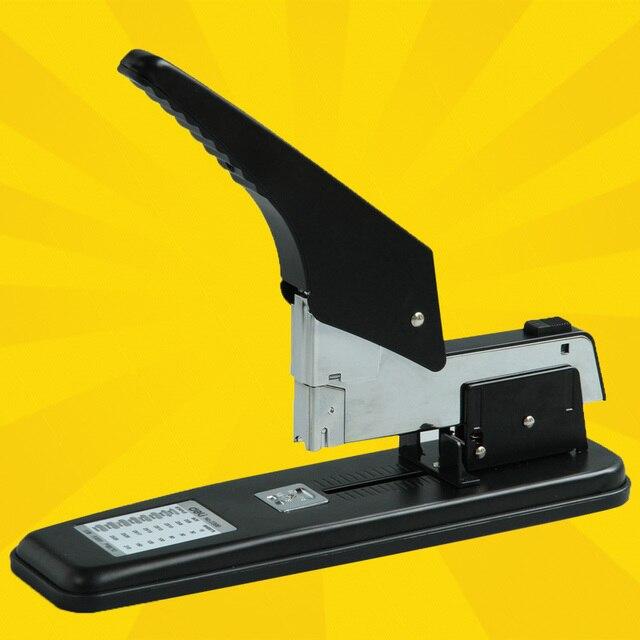 DELI Heavy duty stapler 50/80/210 sheets large arm thickening office stapler grapadora agrafeuse grampeador chancery papelaria