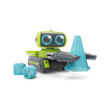 RC Intelligent Editing Robot Toys Space Engineering Vehicles Transportable Toys With Remote Control For Children wltoys f9 rc mini robot toys ios android infrared control app control puzzle intelligent toys robot for children new year gift
