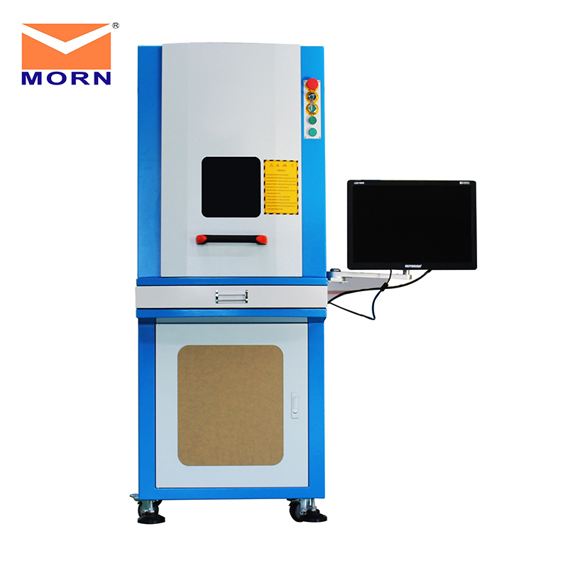 MORN MT-F20C Enclosed Laser Marking Machine CNC Rotary Device/2D/3D Work Table/110V Voltage Optional