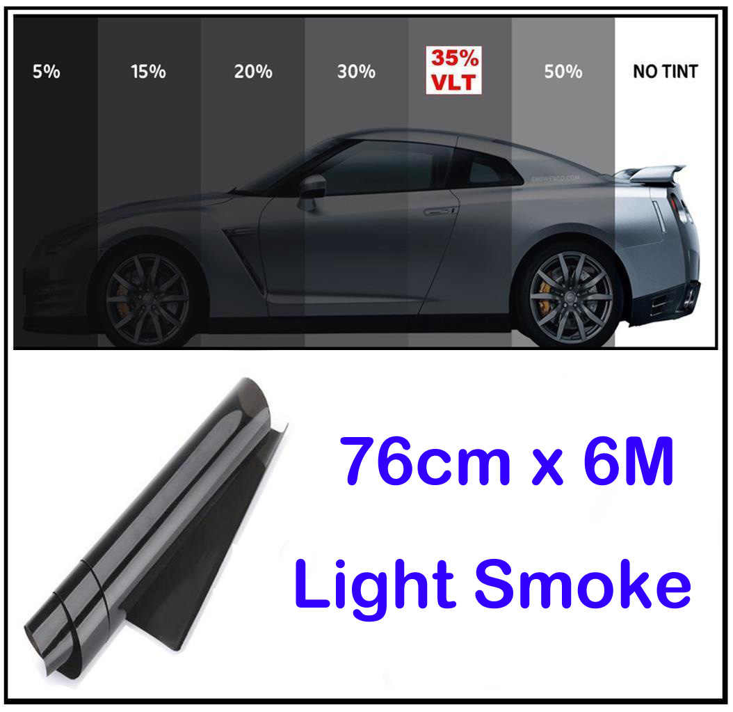 75cm × 6M Car Window Tint Film Universal Fit For Privacy Sun Glare Heat Reduction Solar Protection Summer Sunshade Cover