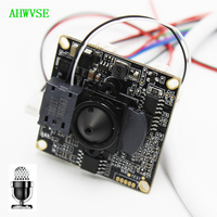 Wide Angle 3.7mm Lens IP Camera Module PCB board Audio Input With External Pickup Microphone 1080P IP Cam 2MP ONVIF