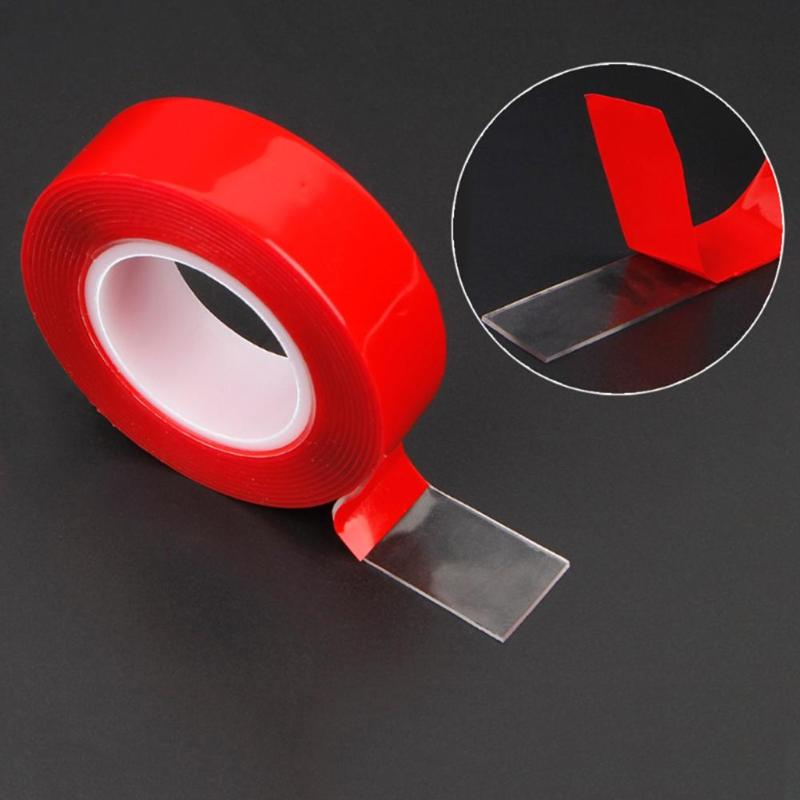 3 Meters 8/10/15/30mm Double Sided Adhesive Glue Tape Acrylic Transparent No Traces Sticker LED Strip Car Phone Tablet Fixed Tap