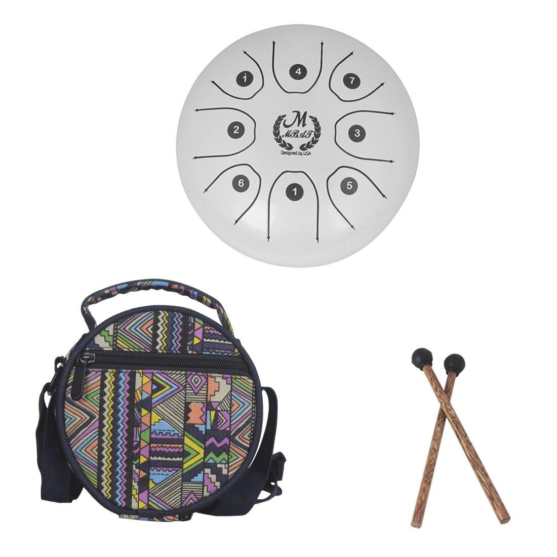 HOT-MMBAT 5.5 pouces petite taille en acier langue tambour avec C D E F G A B C 8 notes avec étui gratuit et maillets en caoutchouc pour les enfants dans