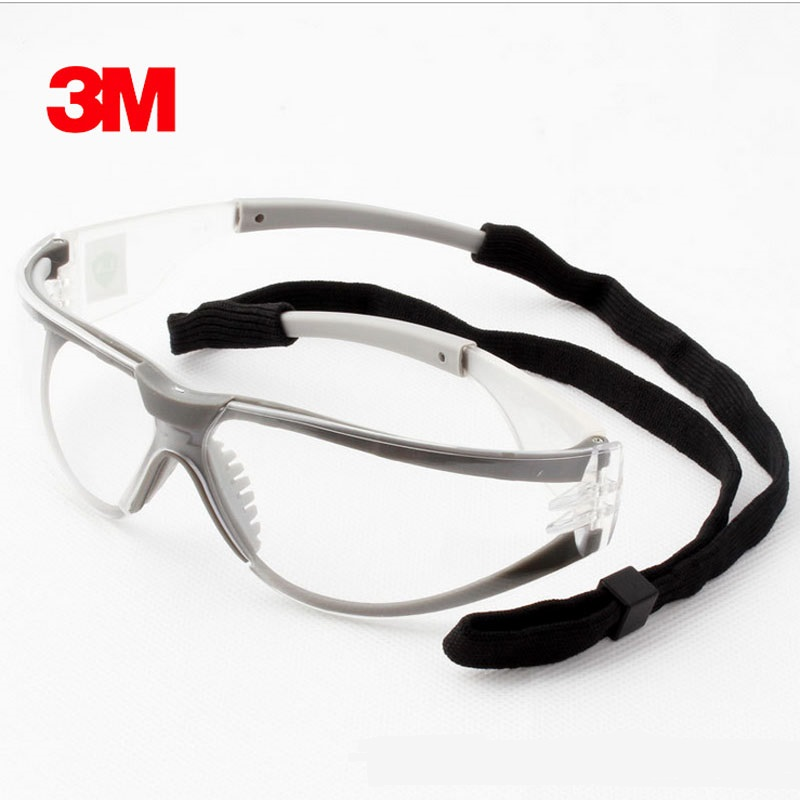 3M 11394 Safety Glasses Anti-Fog Impact Goggles Universal Outdoor Anti-sand Wind Riding Climb Clear Lens Protective Work Eyewear