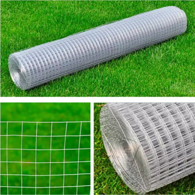 VidaXL 1 X 25 M Wired Mesh Fence Square Silver Galvanized Steel Gauge Chicken Wire Fence Mesh Fencing Weather-Resistant