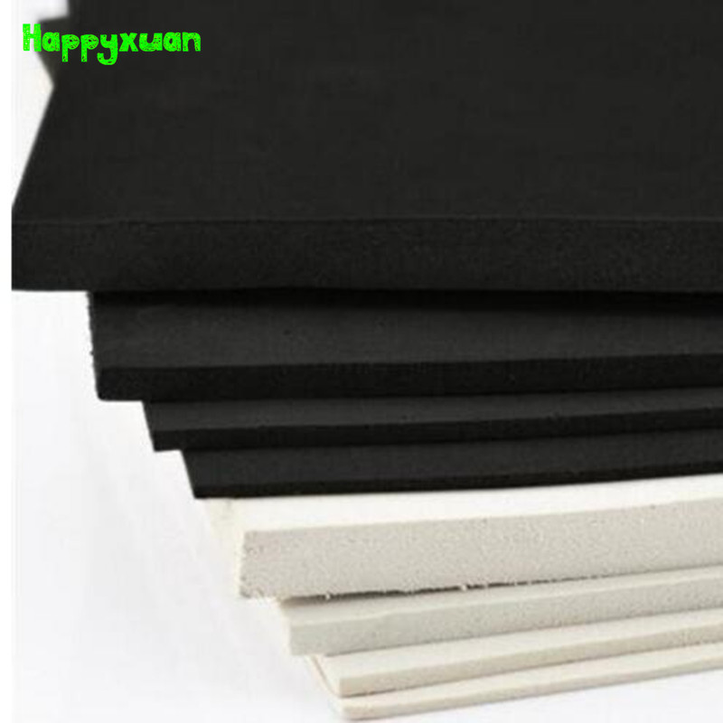 Happyxuan 5pcs 50*35cm 5mm EVA Foam Sheet Material Cosplay White Black  45 Degree Sponge Paper DIY Craft
