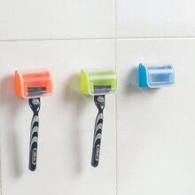 Настенный держатель для бритвы для хранения в ванной комнате, полезные аксессуары для дома на присоске, вешалка для бритвы для мужчин, многоразовые портативные#05