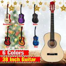 6 Color 38 Inch Wooden Folk Acoustic Guitarra Bass Guitar Ukulele With Case Bag For Musical Instruments Lover(China)