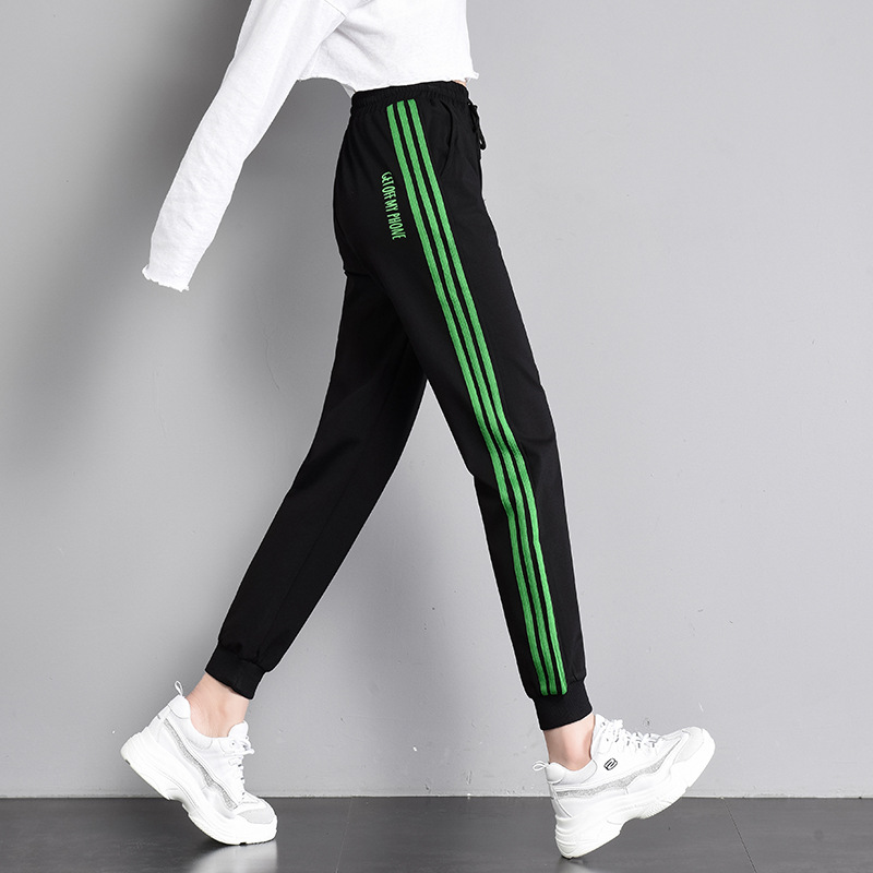 Summer New Pattern Sports   Pants     Capris   Women Woman Leisure Student Trousers