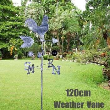 Vintage coq girouette métal fer vent vitesse Spinner indicateur de  Direction jardin ornement décoration Patio Yard 120 cm