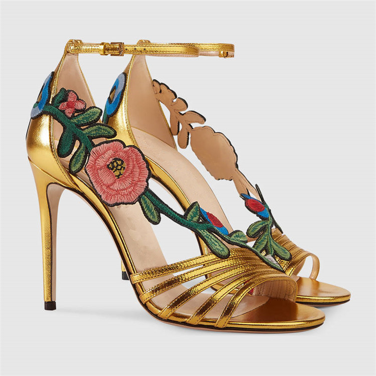 2018 Hot Summer Shoes Woman Sandals Leather Super High Thin Heels Peep Toe Flowers Design Sandals Fashion Party Shoes Woman2018 Hot Summer Shoes Woman Sandals Leather Super High Thin Heels Peep Toe Flowers Design Sandals Fashion Party Shoes Woman