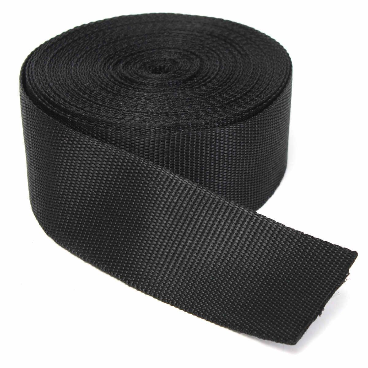 50 мм 10 м черный нейлоновая сетчатая лента клейкие ленты отделка ремень Вышивание ткани DIY одежда ошейник Рюкзак запчасти обвязки сумки ремень