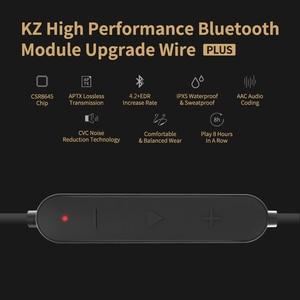 Image 5 - KZ Waterproof Aptx Bluetooth Module 4.2 Wireless Upgrade Module Cable Applies Original Headphones Earphones For ZS10 ZSN Pro ZST