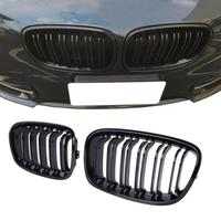 Front Center Wide Kidney Grille Gloss Black Double Line for BMW 1 Series F20 2011 2014 118i M135i 125i 120i