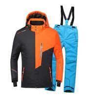 Heilsa/лыжные костюмы для мальчиков и девочек, теплые непромокаемые детские лыжные куртки + штаны, зимний детский лыжный комплект одежды