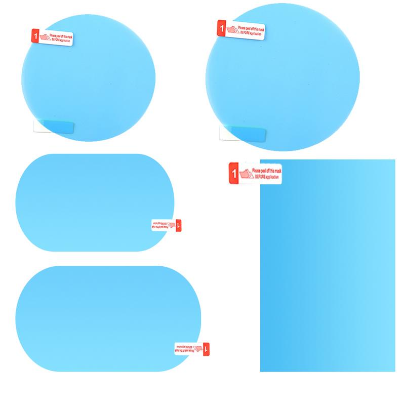 Anti Fog Car Mirror Window Clear Film Membrane Anti-glare Waterproof Rainproof Car Sticker Car Accessories 2PCS/Set 2pcs car rearview mirror waterproof membrane transparent clear film sticker film for cars see more clearly on rainy days safer