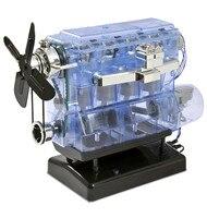 2018 Engine Model Motor Drive Internal Combustion Engine Movable Engine Transparent Plastic Kit Physics Teaching Gift Hot Sale
