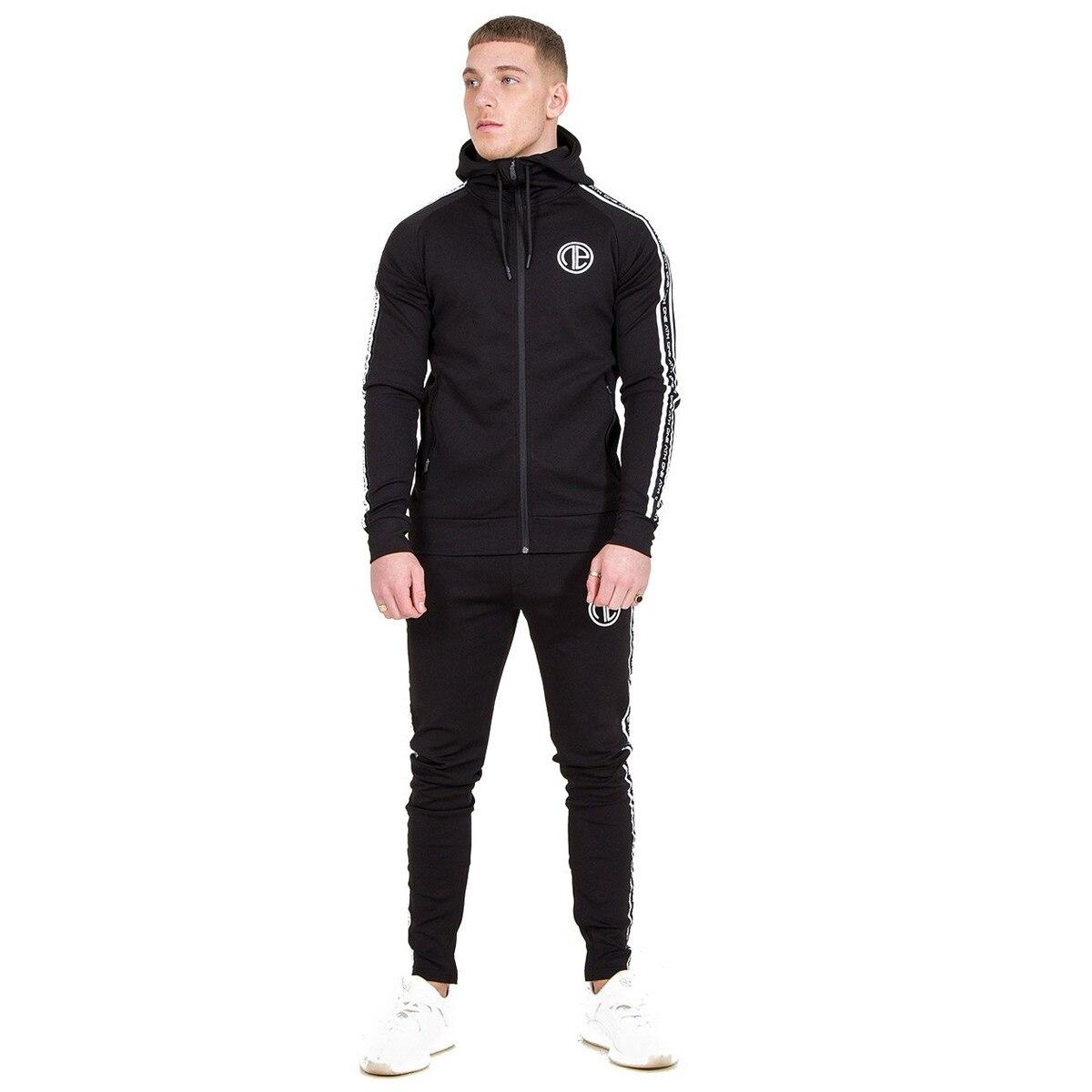 Nuevo conjunto de ropa deportiva para correr para hombre, chándales de gimnasia, sudaderas + Pantalones, ropa de entrenamiento - 6