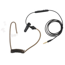 Negro 3,5mm tubo de aire, auricular Anti-radiación auricular estéreo auricular de tubo acústico encubierto para iPhone smartphone(China)
