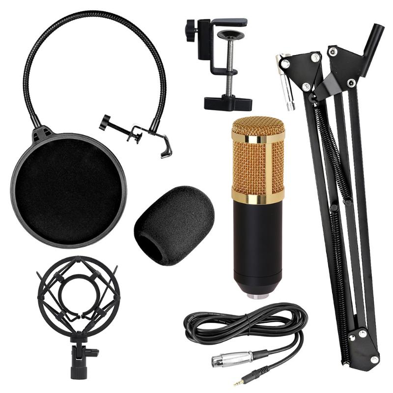 BM 800 Microphone Studio Live Streaming microphone Broadcasting Recording bm800 Condenser Microphone with desktop black For pc|Microphones| |  - title=