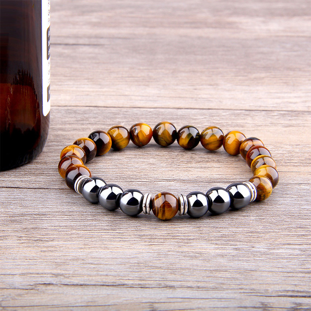 Bracelet Oeil De Tigre Et Hematite