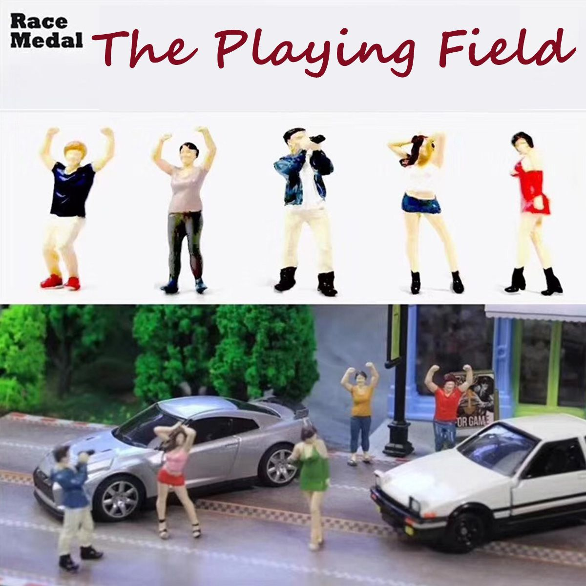 Race Medal 1:64 The playing field people Scenario Model Set For MatchboxRace Medal 1:64 The playing field people Scenario Model Set For Matchbox
