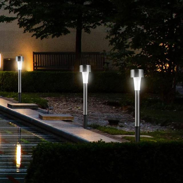 10 Pcs/Lot Stainless Steel Led Solar Lawn Light 1